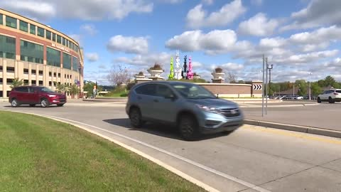 Sculptures installed in roundabouts in South Bend